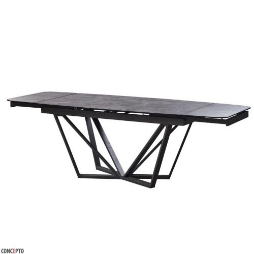 Harbor Iron Grey стол раскладной глазурованное стекло 160-240 см