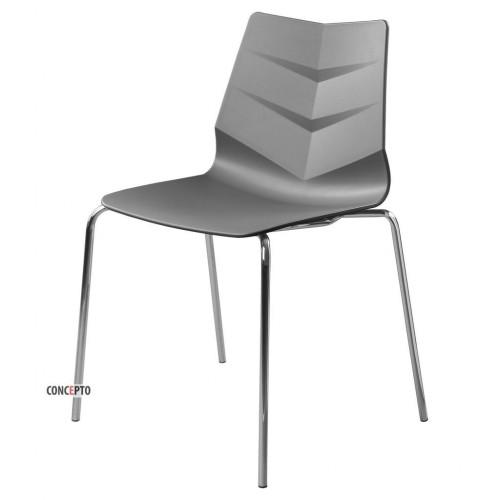 Leaf стул серый