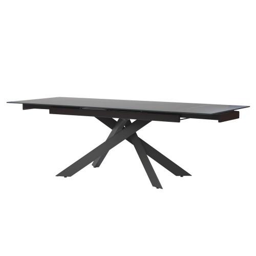Gracio Matt Grey стол раскладной стеклянный 160-240 см