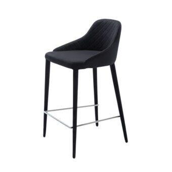Elizabeth полубарный стул чёрный