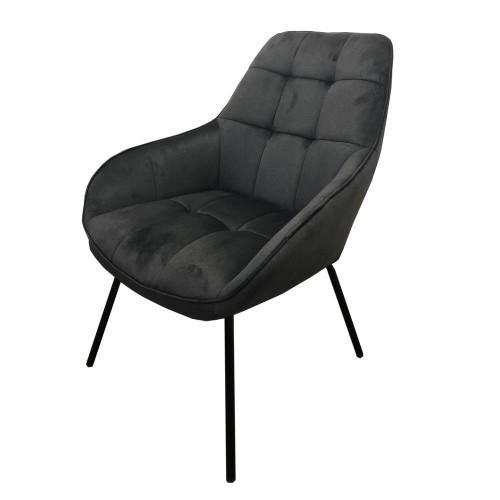Morgan лаунж кресло серый графит