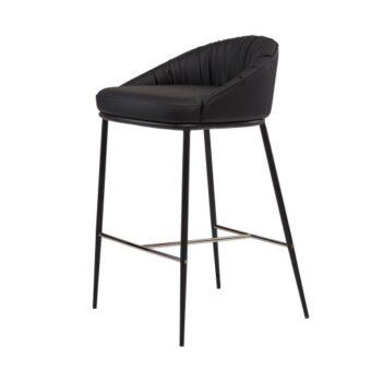 Sheldon полубарный стул экокожа чёрный