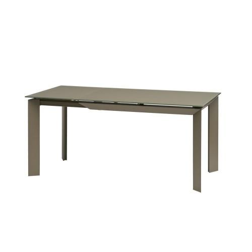 Vermont Matt Latte стол раскладной стекло 120-170 см