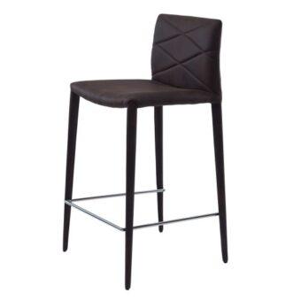 Volcker полубарный стул тёмно-коричневый
