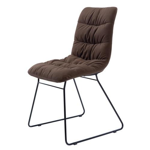 Weldon стул на полозьях коричневый