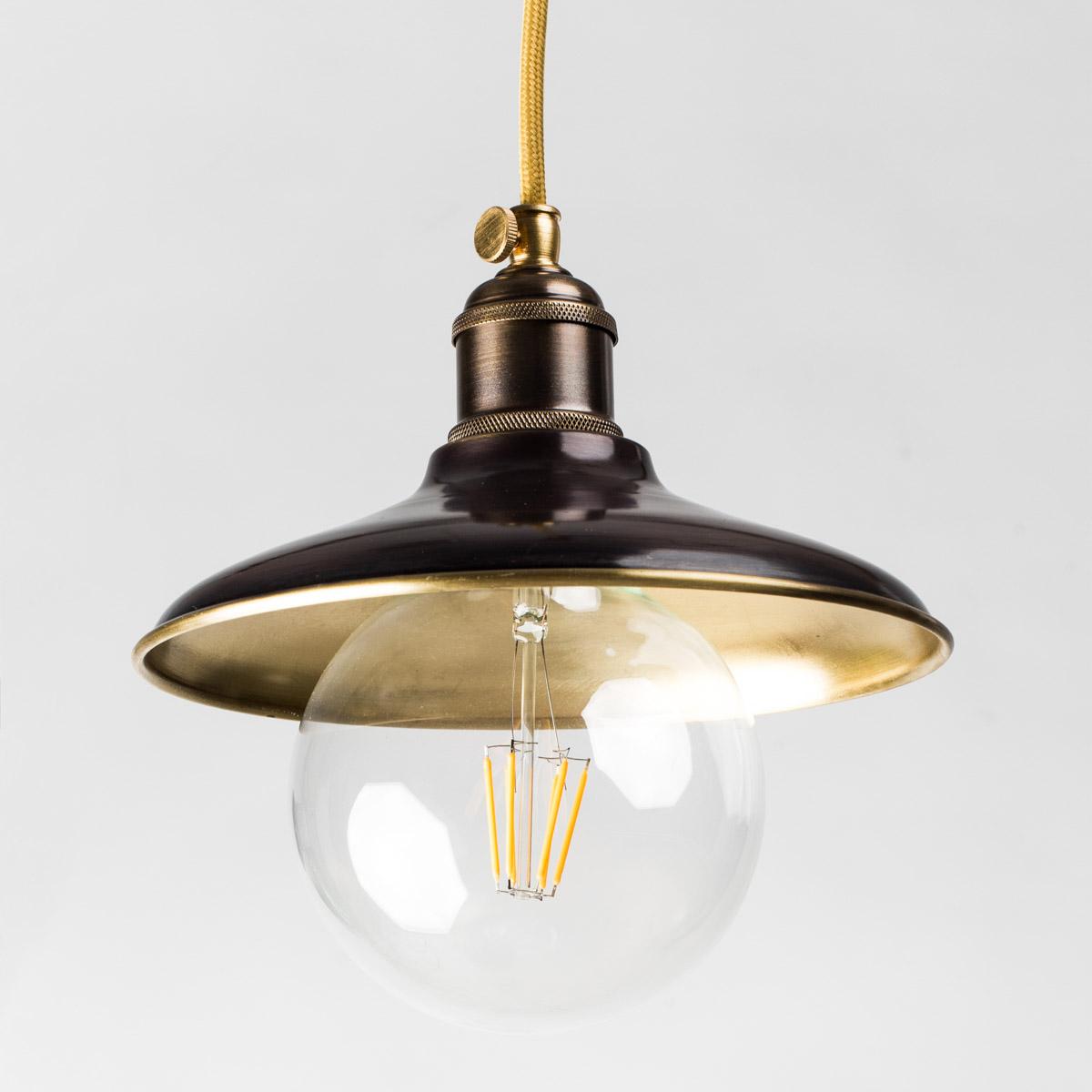 Потолочный светильник 1194 латунный коричневый