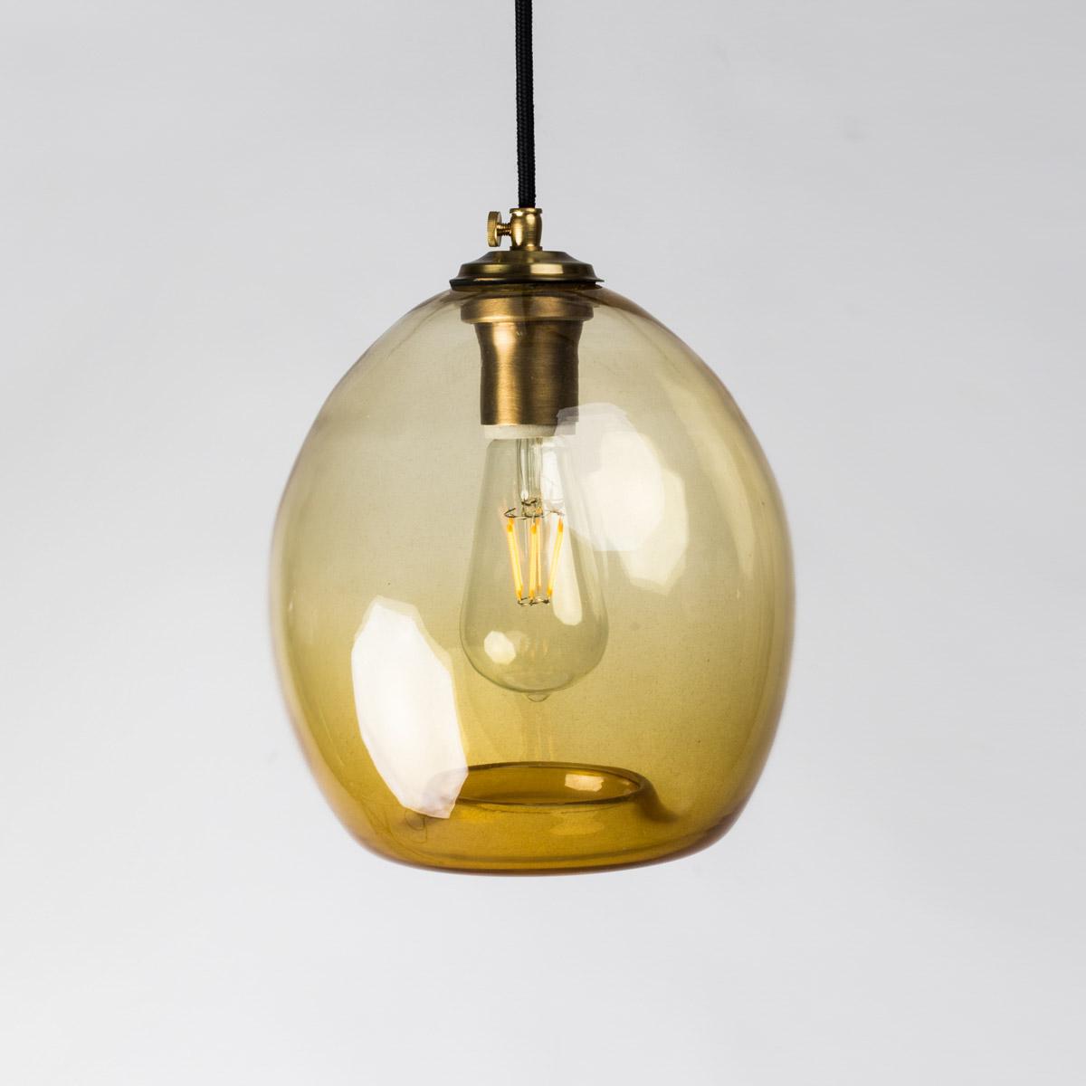 Потолочный светильник Colorglass оранжевый