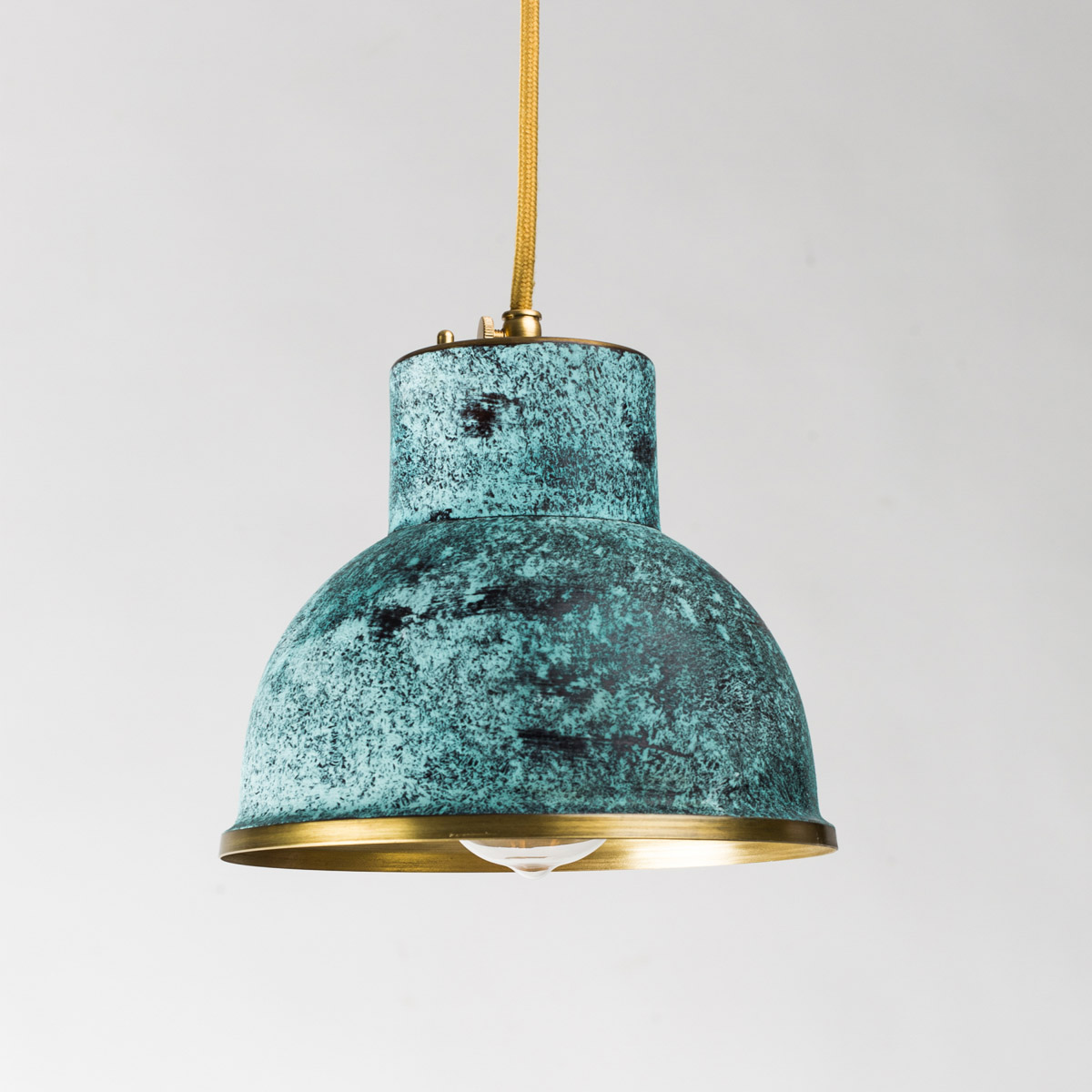 Потолочный светильник латунный Italy зеленый