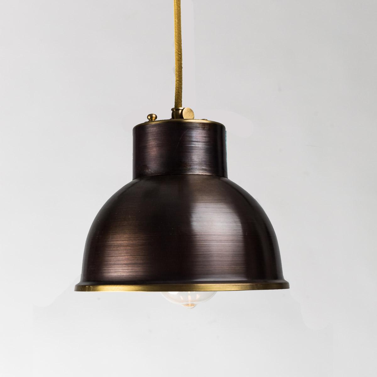 Потолочный светильник латунный Italy коричневый