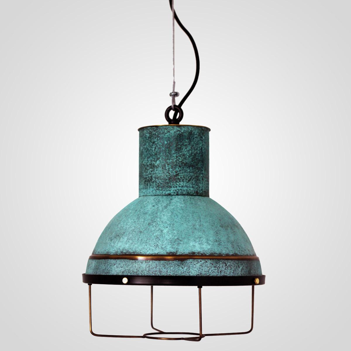 Потолочный светильник 3449 латунный зеленый