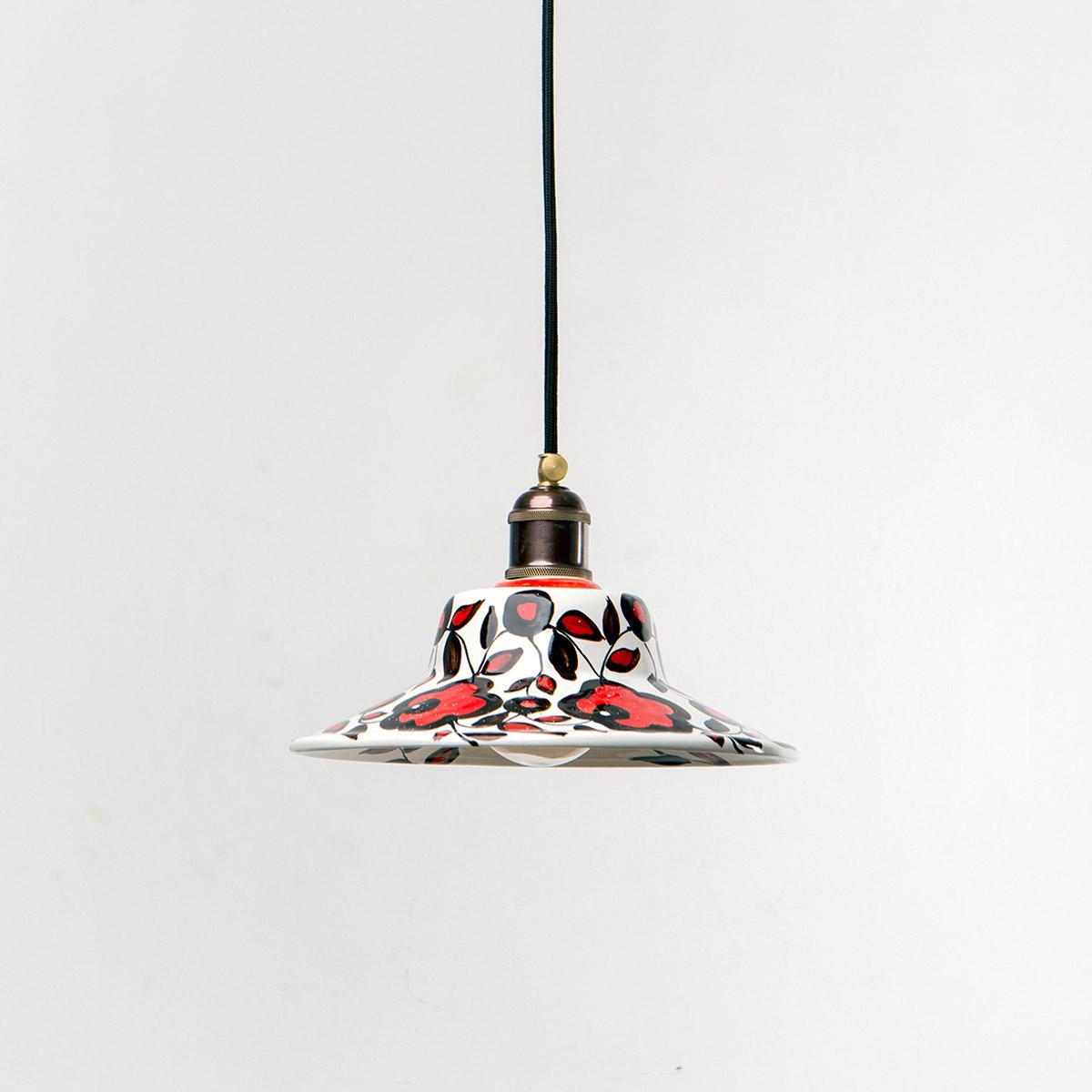 Потолочный светильник 4256 керамический с росписью