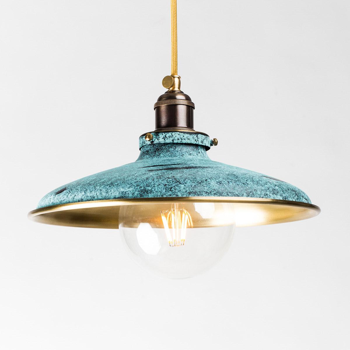 Потолочный светильник 527 латунный зеленый