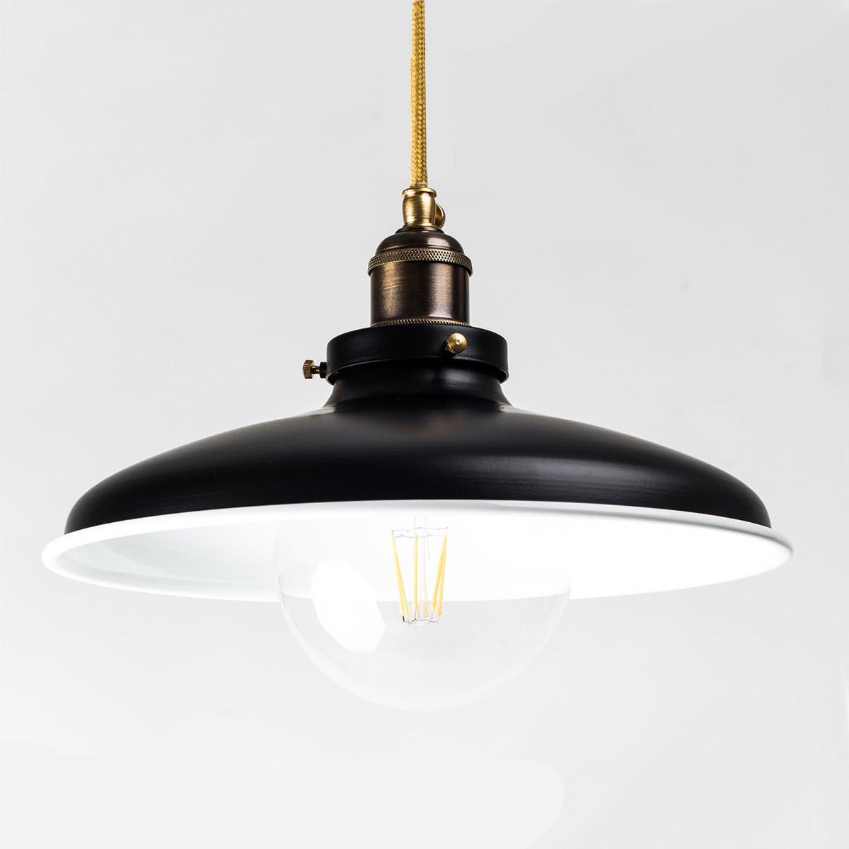Потолочный светильник 576 стальной черный