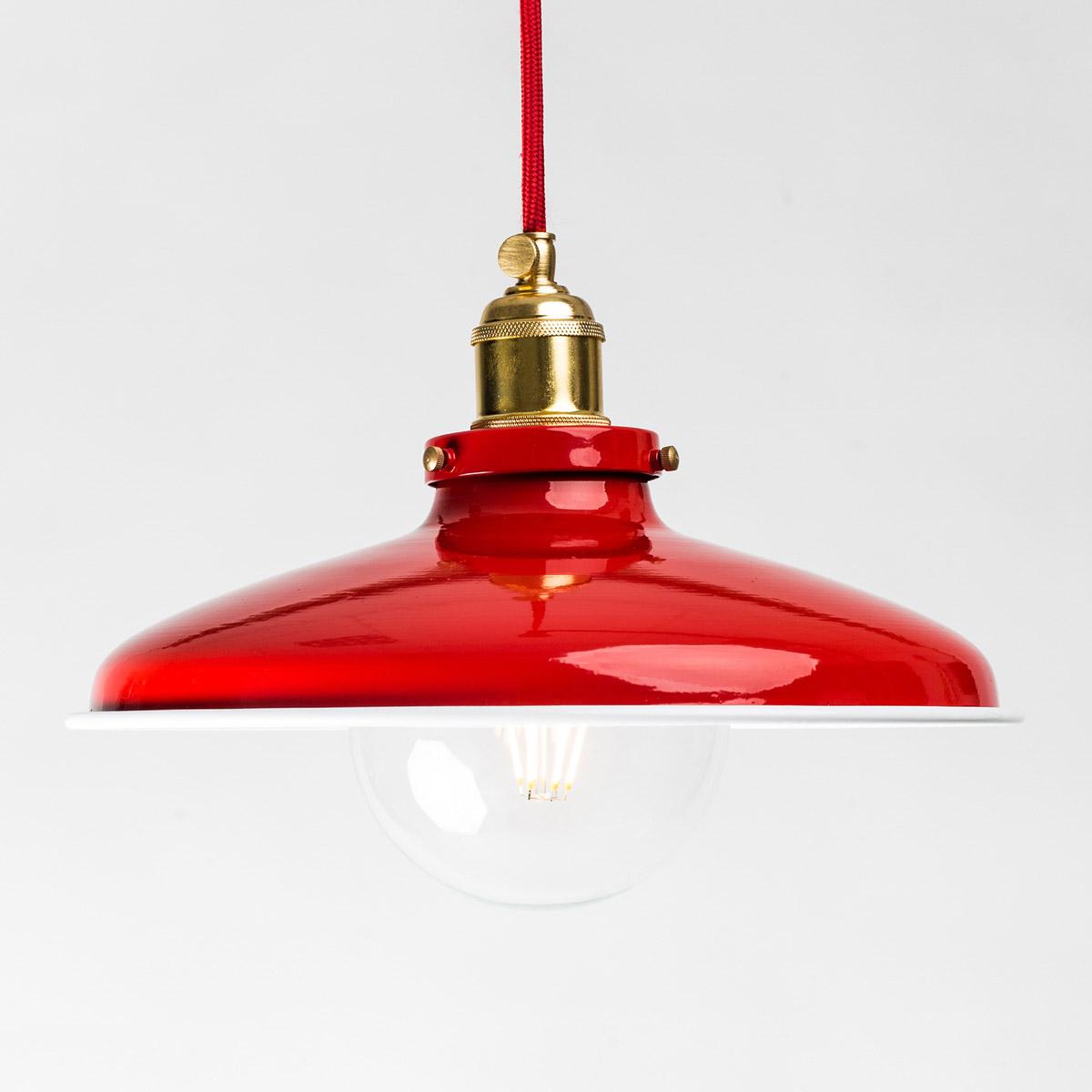 Потолочный светильник 576 стальной красный