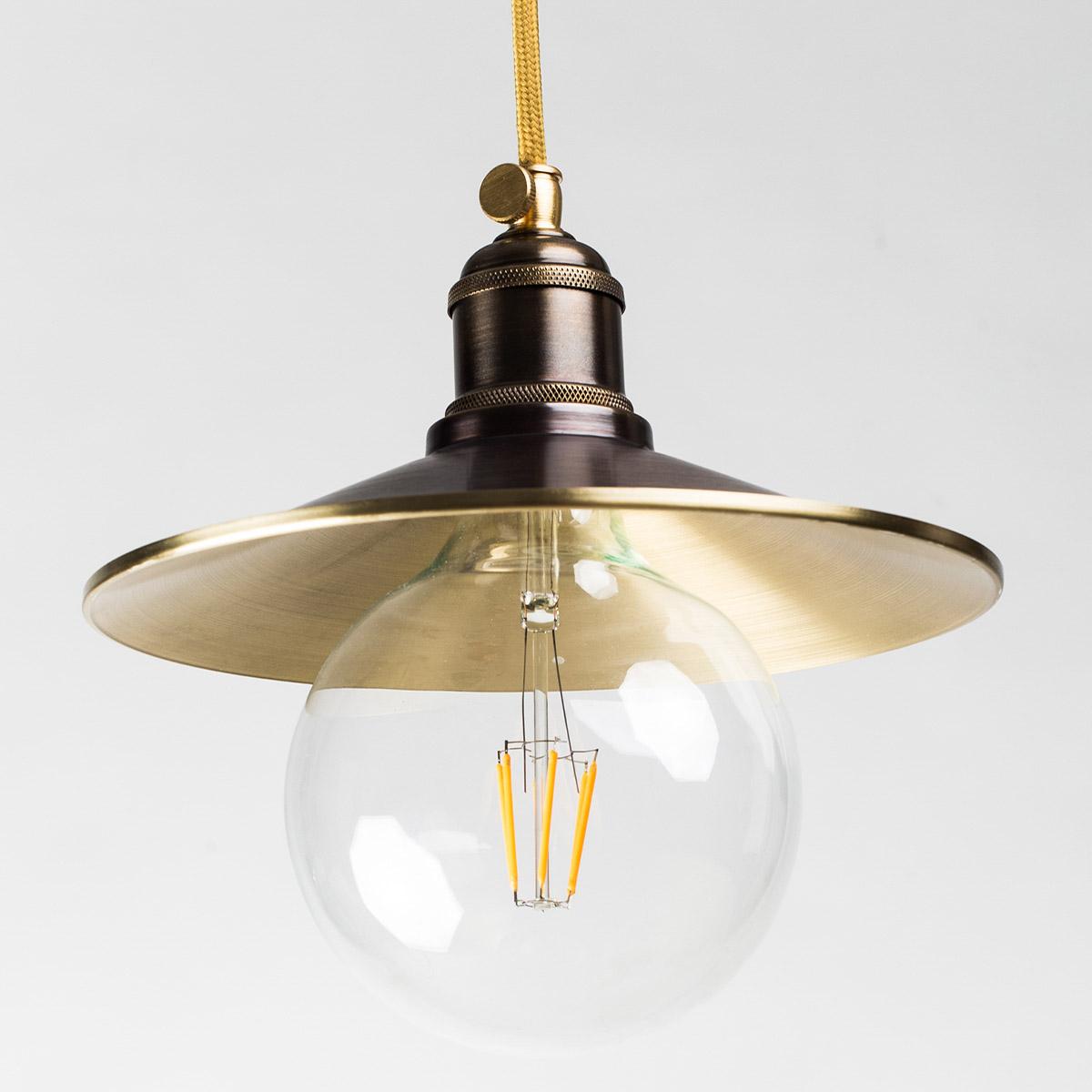 Потолочный светильник 610 латунный коричневый