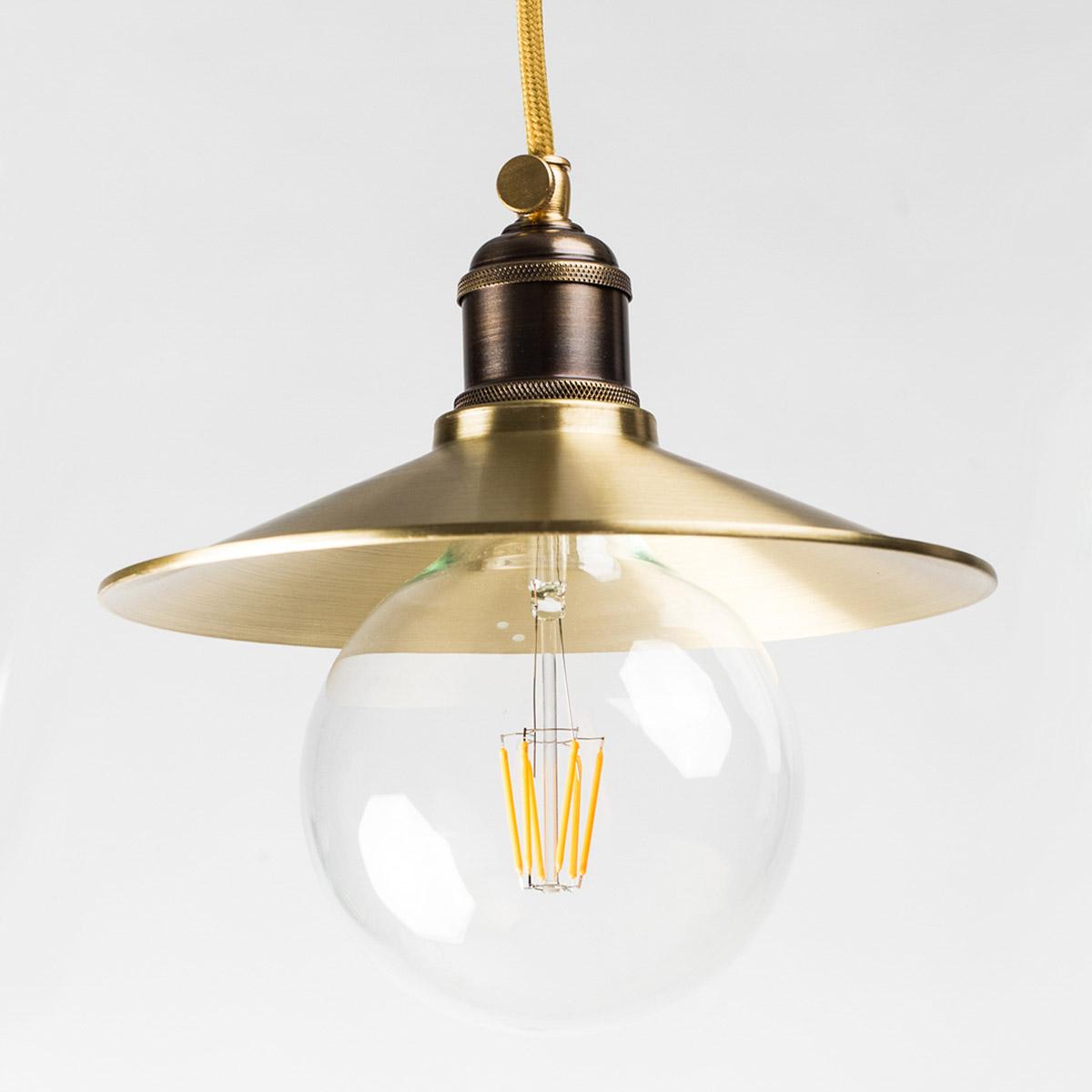 Потолочный светильник 610 латунный золотой