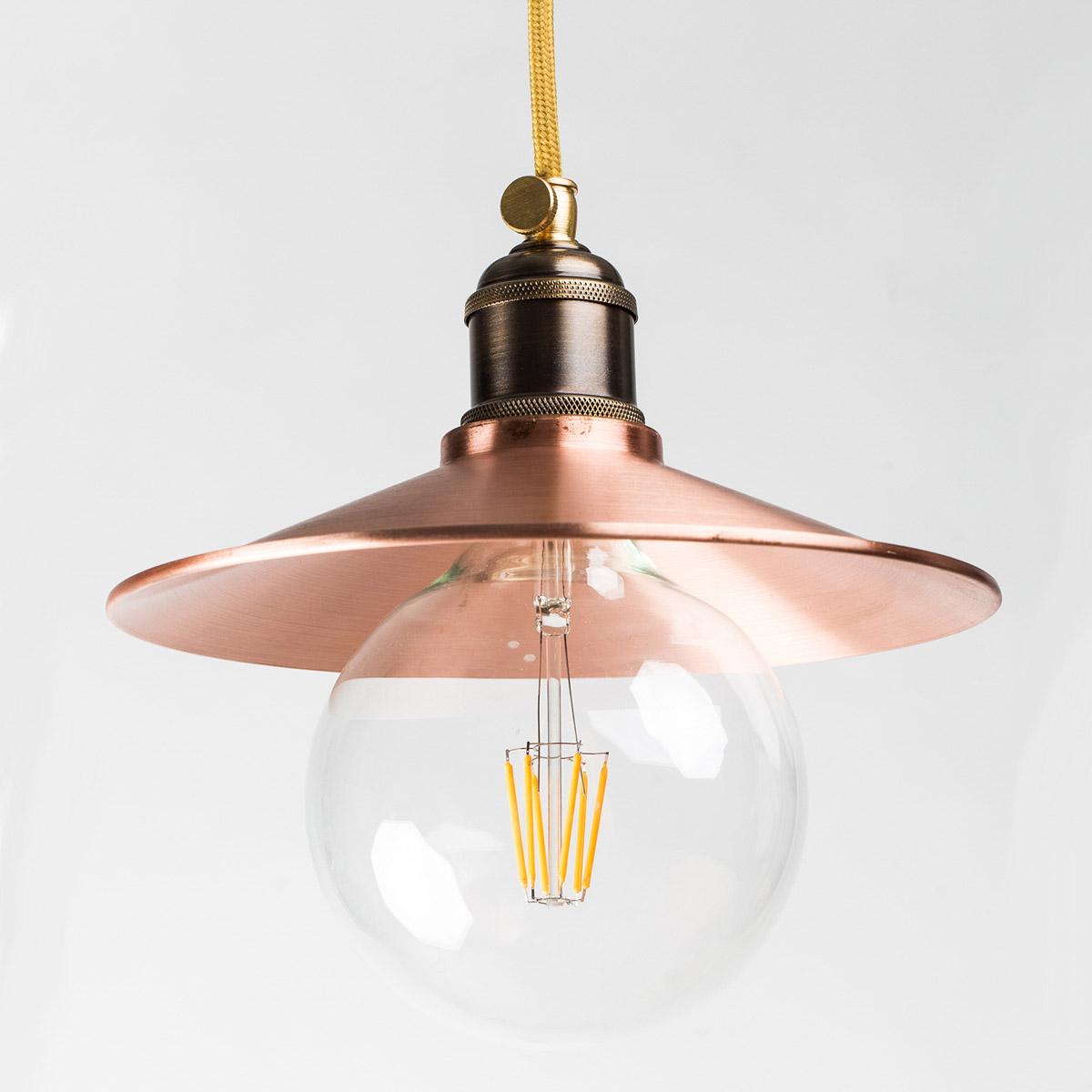 Потолочный светильник 610 медный