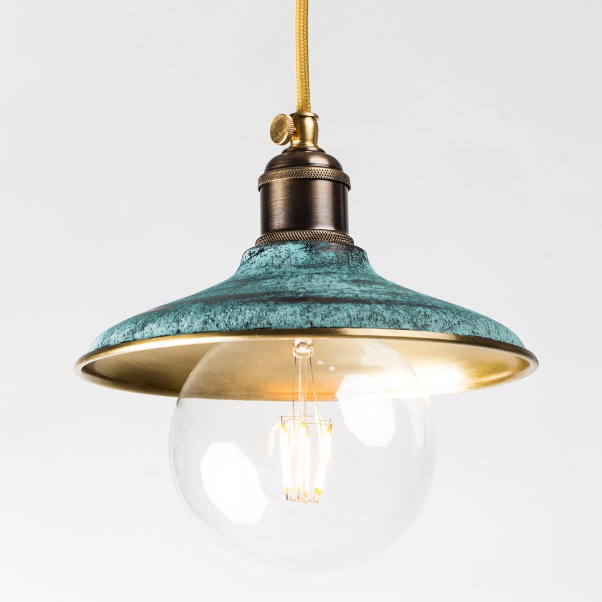 Потолочный светильник 1194 латунный зеленый