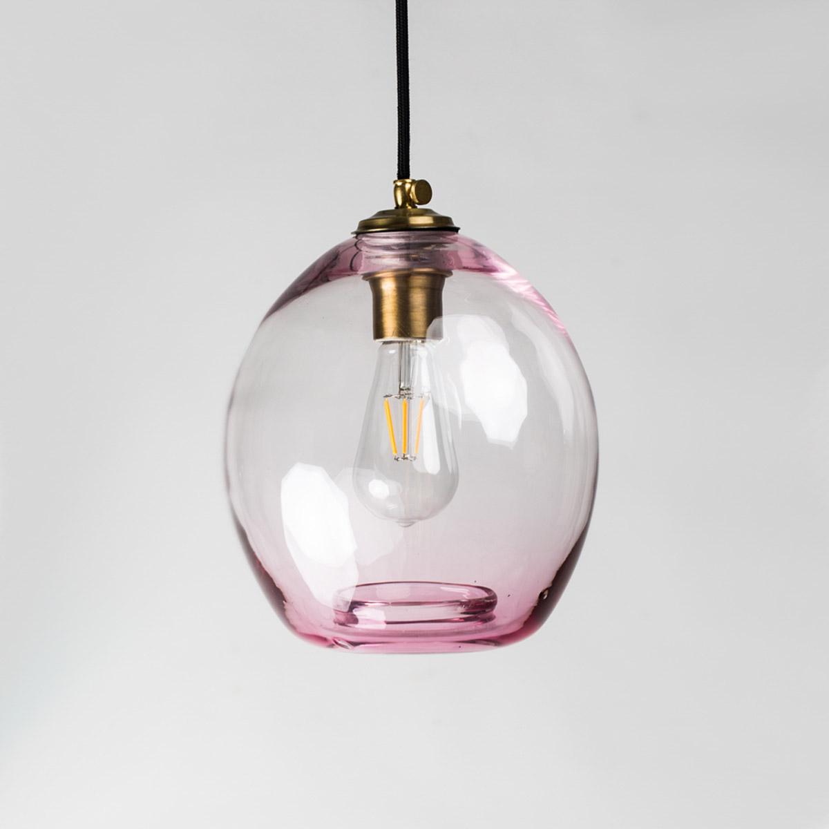 Потолочный светильник Colorglass пурпурный