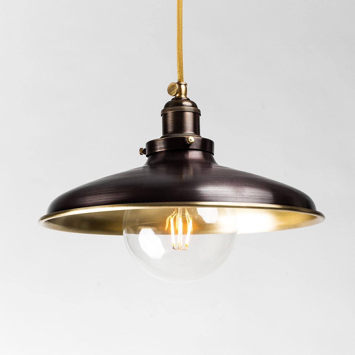 Потолочный светильник 527 латунный коричневый