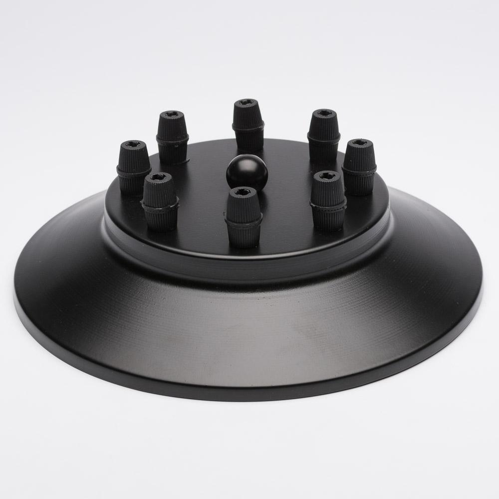 Потолочный крепеж на 8 отверстий черный