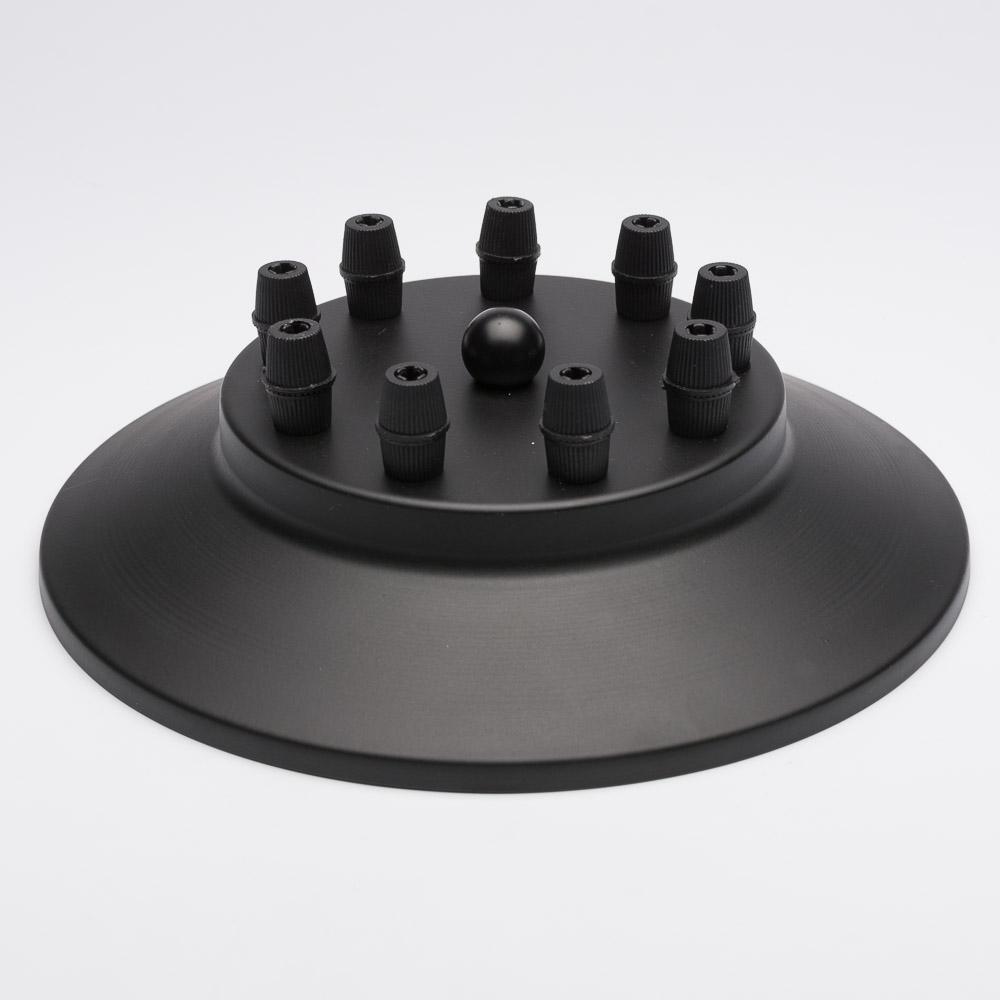 Потолочный крепеж на 9 отверстий черный