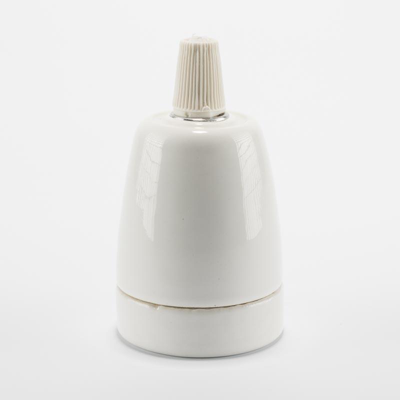 Патрон керамический белый
