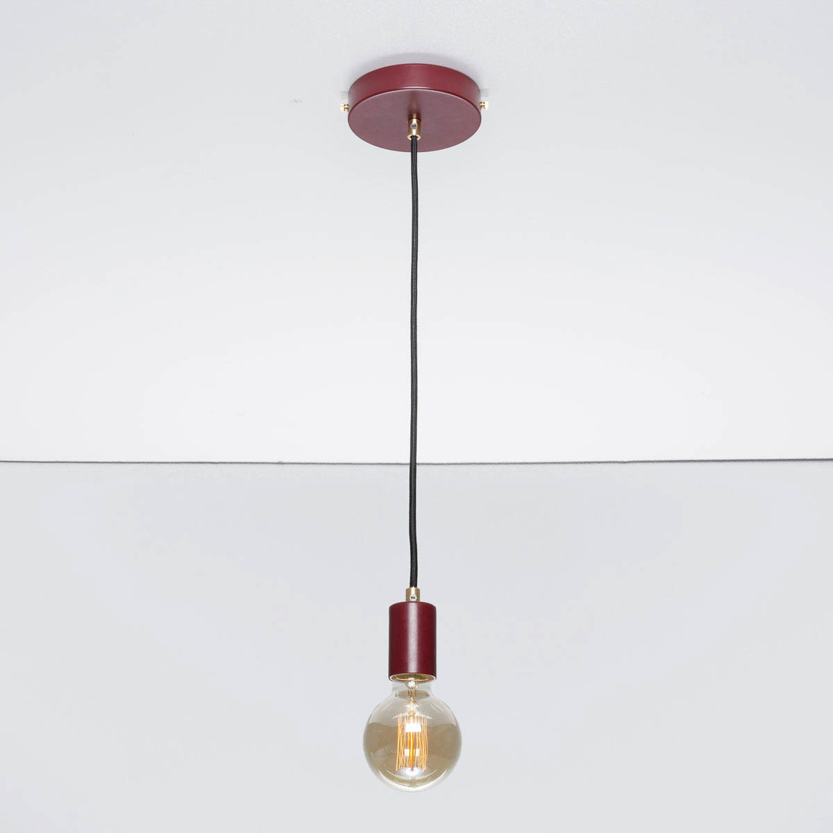 Потолочный светильник Bjorn бордовый