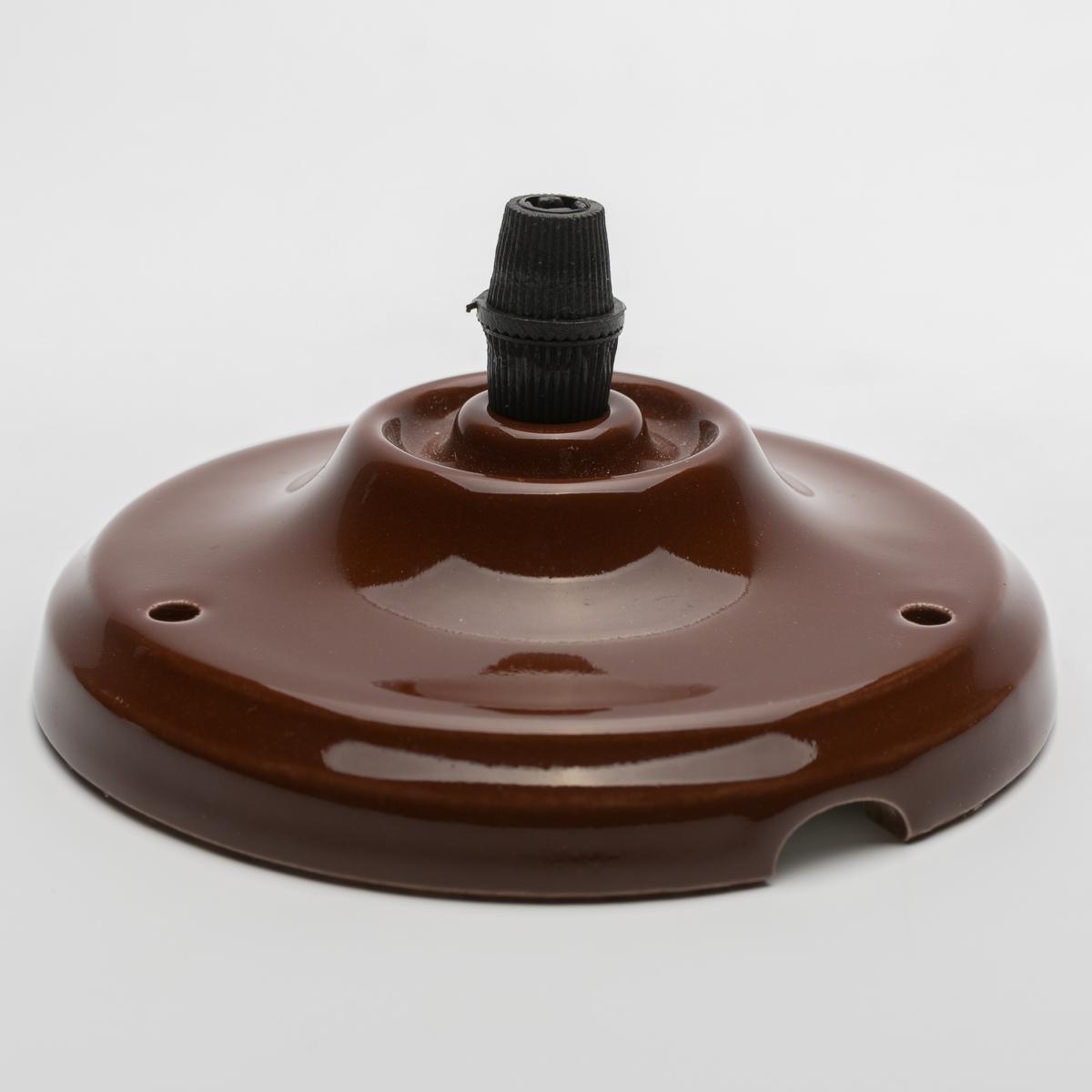 Потолочный крепеж керамический коричневый