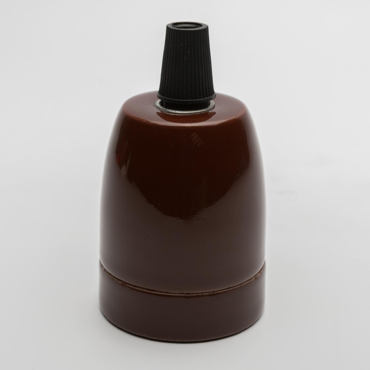 Патрон керамический коричневый