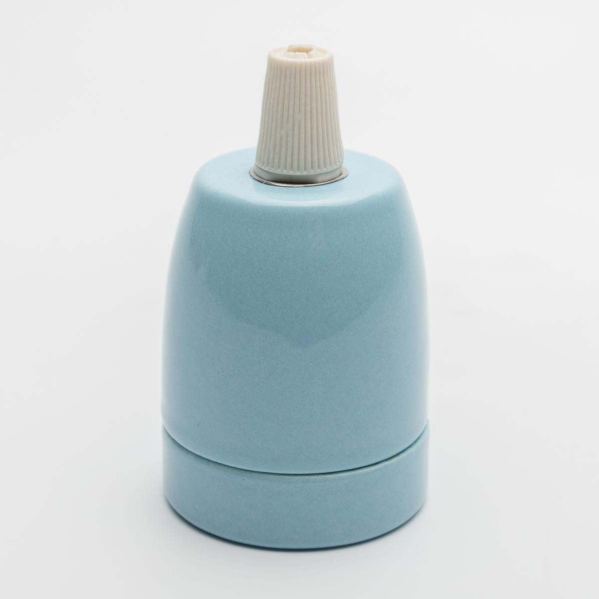 Патрон керамический голубой