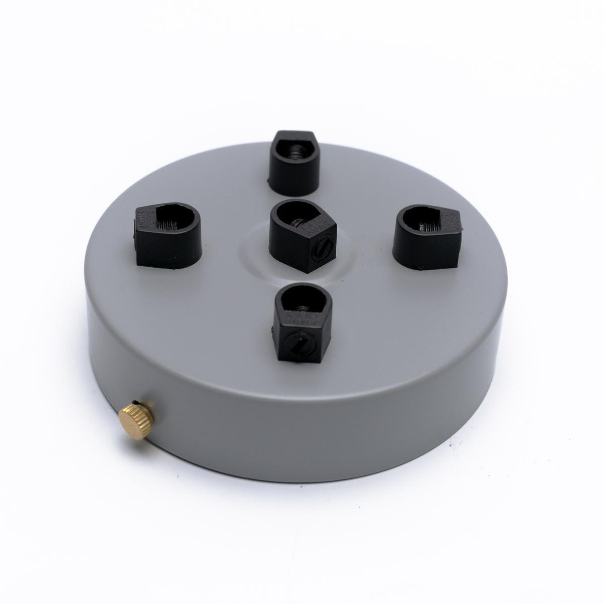 Потолочный крепеж стальной 5 выходов серый
