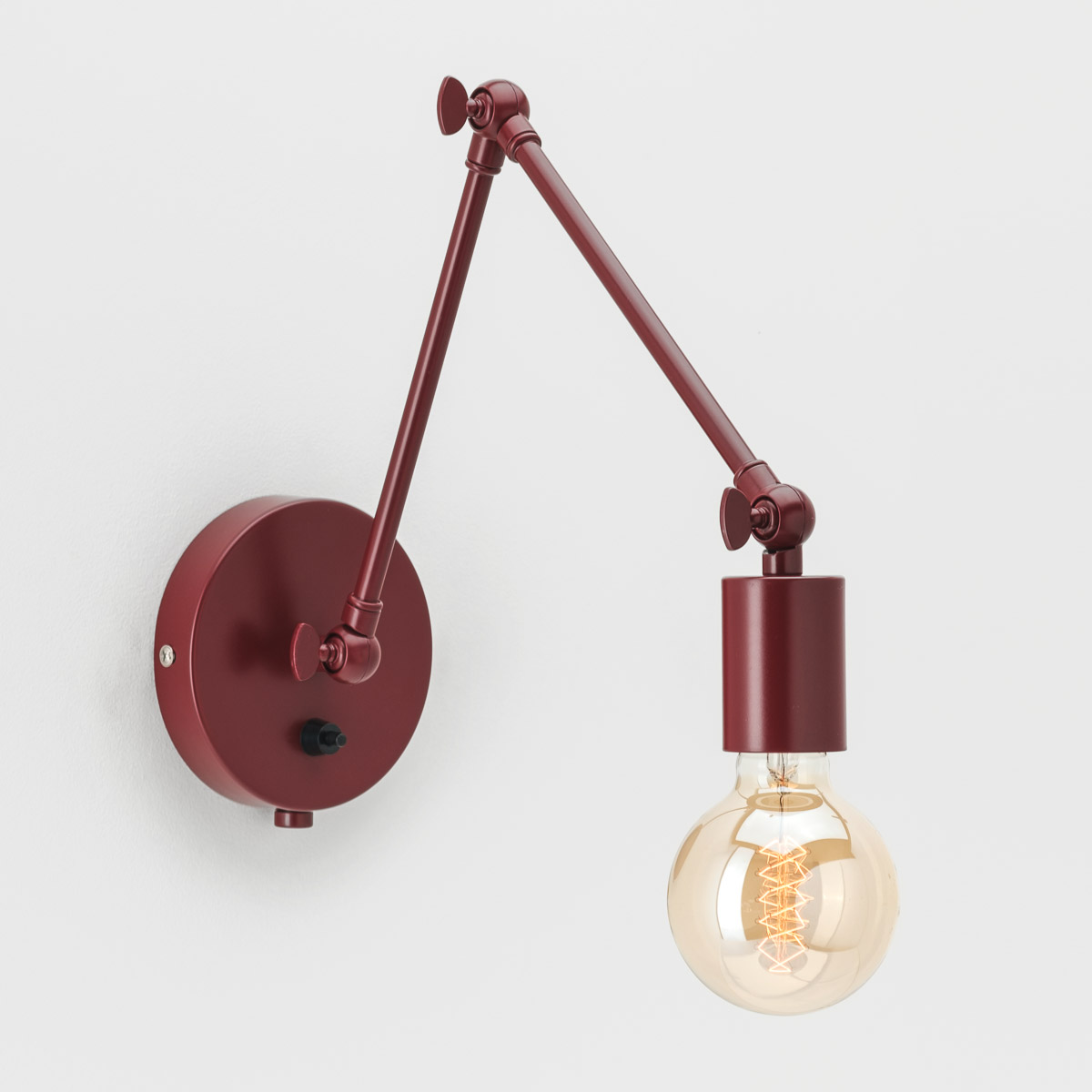 Настенный светильник Edvin бордовый