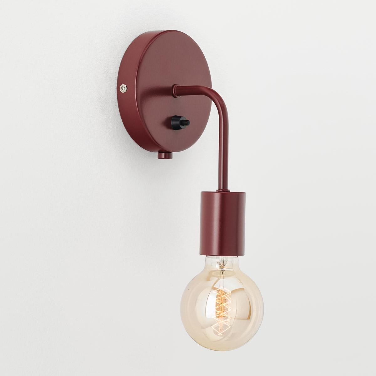 Настенный светильник Loui бордовый