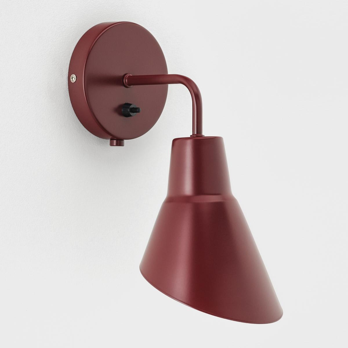 Настенный светильник Nils бордовый