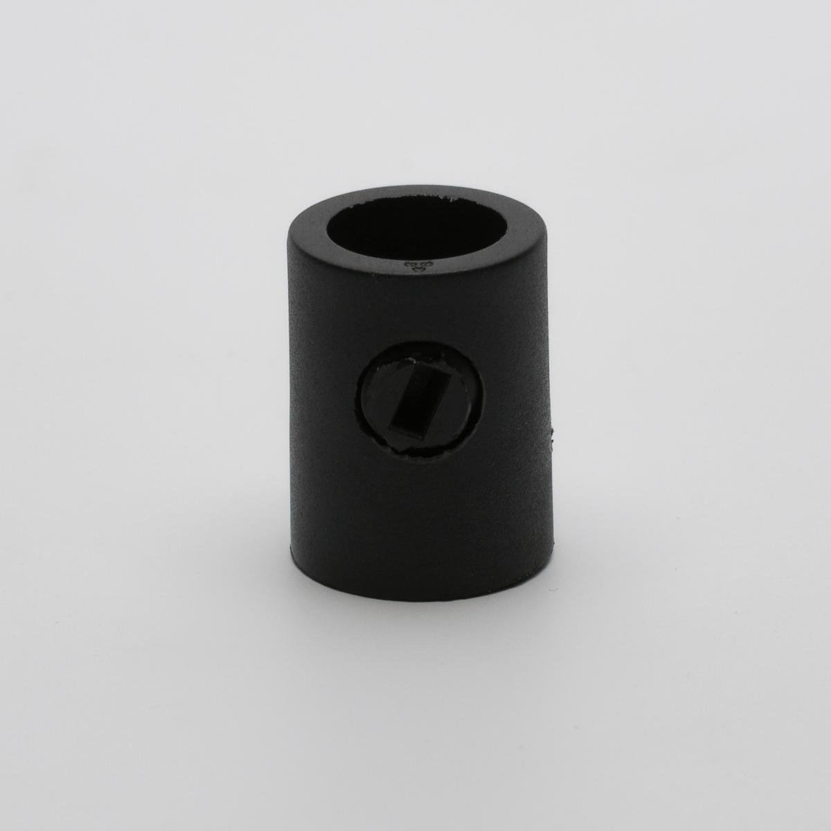 Фиксатор провода с винтом черный